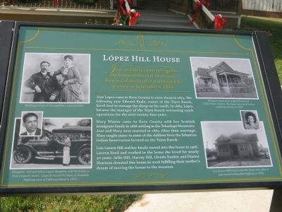 Lόpez-Hill House Marker image. Click for full size.