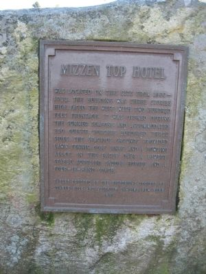 Mizzen Top Hotel Marker Photo, Click for full size