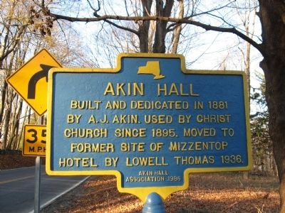 Akin Hall Marker image. Click for full size.