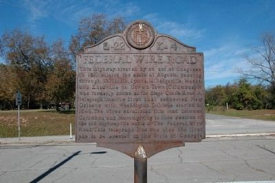Federal Wire Road Marker Photo, Click for full size
