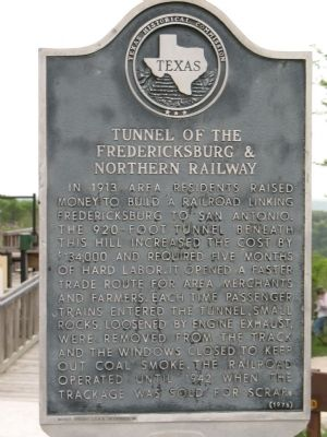 Tunnel of the Fredricksburg & Northern Railway Marker image. Click for full size.