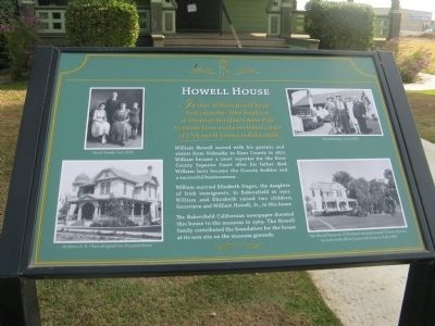 Howell House Marker image. Click for full size.