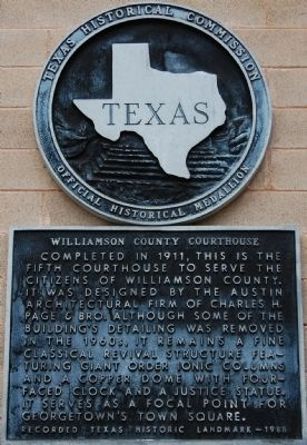 Williamson County Courthouse Marker image. Click for full size.