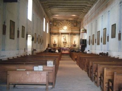 Interior of Mission San Miguel image. Click for full size.