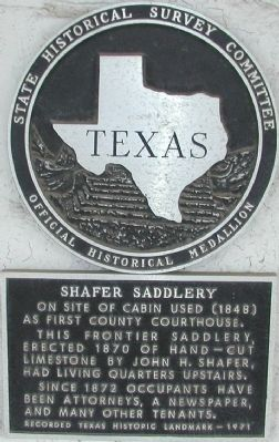 Shafer Saddlery Marker image. Click for full size.