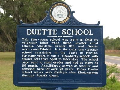 Duette School Marker image. Click for full size.