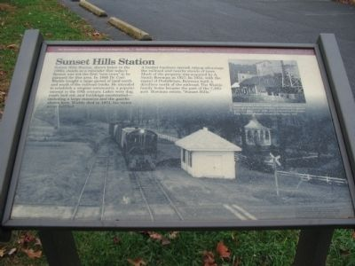 Sunset Hills Station Marker Photo, Click for full size