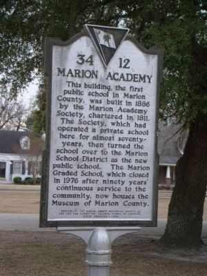 Marion Academy Marker image. Click for full size.