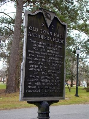 Old Town Hall and Opera House Marker, Side 2 image. Click for full size.
