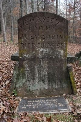 William D. Massey's Gravestone image. Click for full size.