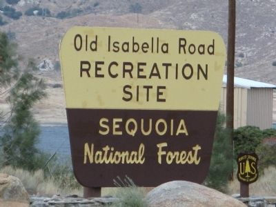 Old Isabella Road Recreation Area Sign image. Click for full size.