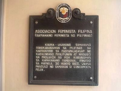 Associacion Feminista Filipina Marker Photo, Click for full size