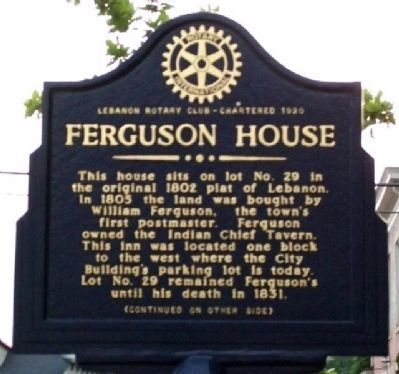 Ferguson House Marker (Side A) image. Click for full size.