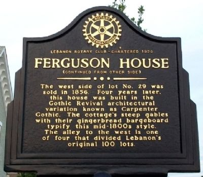 Ferguson House Marker (Side B) image. Click for full size.