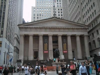 Federal Hall on Wall Street image. Click for full size.