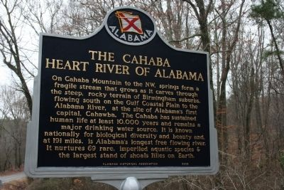 The Cahaba Heart River Of Alabama Marker image. Click for full size.