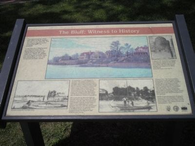 The Bluff: Witness to History Marker image. Click for full size.