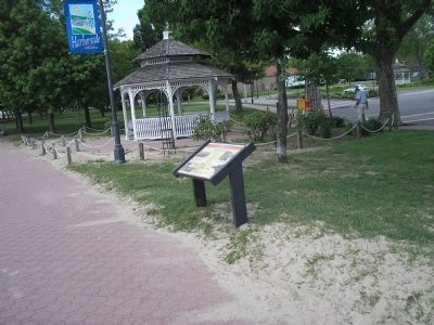 Marker on the Perth Amboy Waterfront image. Click for full size.