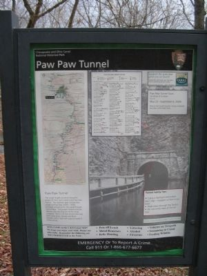 Paw Paw Tunnel Information Kiosk image. Click for full size.