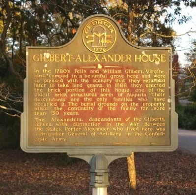 Gilbert-Alexander House Marker Photo, Click for full size