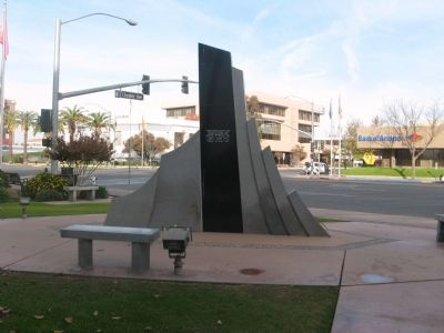 Rear View of the Kern County Vietnam War Memorial image. Click for full size.