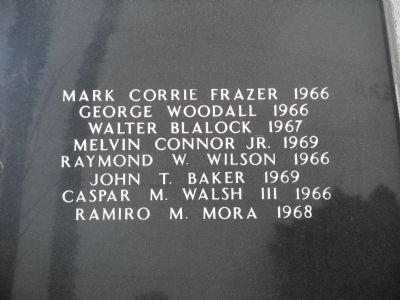 Names Engraved on Rear Side of Monument image. Click for full size.