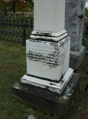 Capt. Samuel G. Prather Marker (North face) Photo, Click for full size