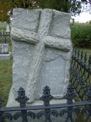Grave of A. Louise Prather, wife of Capt. S.G. Prather Photo, Click for full size