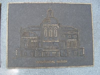 Relief View of the Alabama's Second Statehouse. image. Click for full size.
