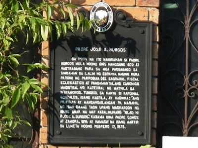 Padre Jose A. Burgos Marker Photo, Click for full size