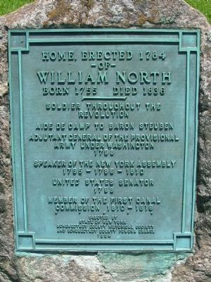 <center>Home of William North Marker<br> Duanesburg, N.Y.</center> image. Click for full size.