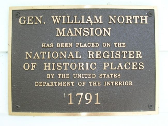 Gen. William North Mansion image. Click for full size.