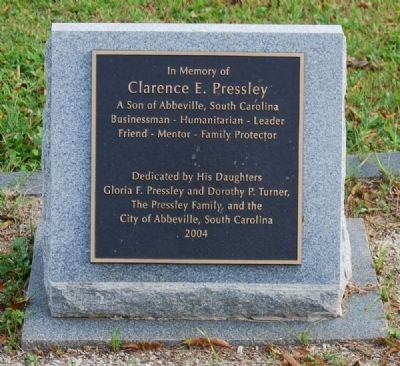 Clarence E. Pressley Marker image. Click for full size.