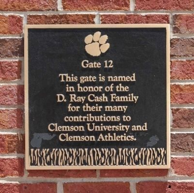 The D. Ray Cash Family Gate -<br>Memorial Stadium Gate 12 Photo, Click for full size