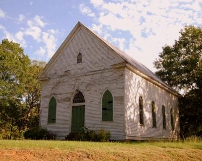 Mt. Carmel Presbyterian Chruch -<br>Located South of Fort Charlotte Marker Photo, Click for full size