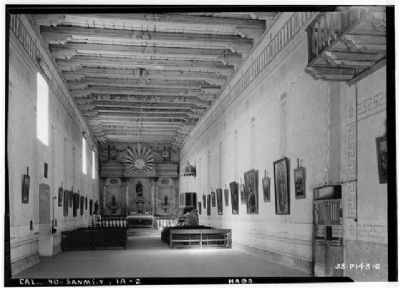 Interior of the Church - 1934 image. Click for more information.