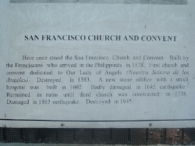 San Francisco Church and Convent Marker image. Click for full size.