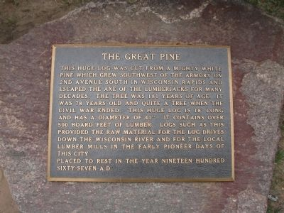 The Great Pine Marker image. Click for full size.