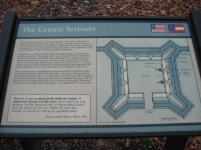 The Central Redoubt Marker image. Click for full size.