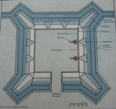 Close Up of the Redoubt Plan image. Click for full size.