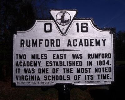 Rumford Academy Marker Photo, Click for full size