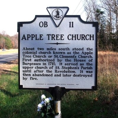 Apple Tree Church Marker Photo, Click for full size