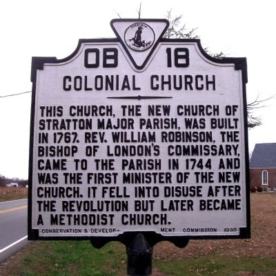 Colonial Church Marker Photo, Click for full size