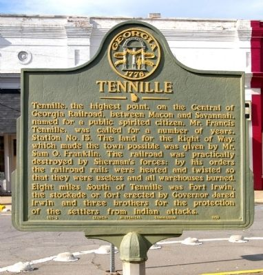 Tennille Marker image. Click for full size.
