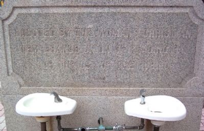 Woman's Christian Temperance Union Drinking Fountain Inscription Photo, Click for full size