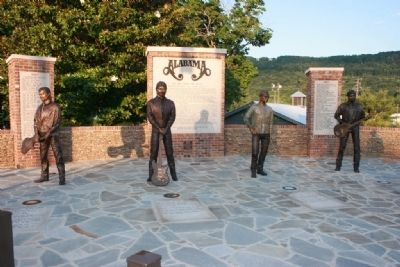 "Alabama ""The Boys From Fort Payne"" Monument image. Click for full size."
