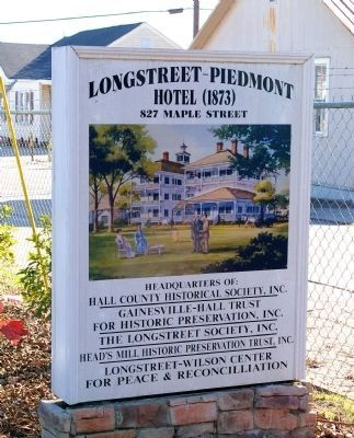Sign at The Historic Piedmont Hotel image. Click for full size.