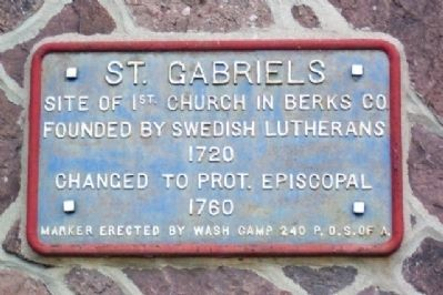 St. Gabriels Church Marker image. Click for full size.
