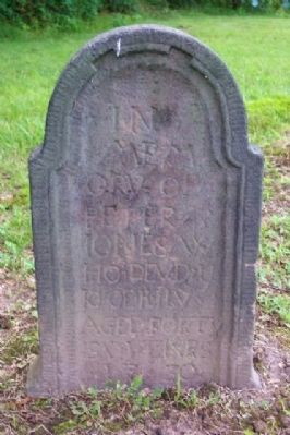Peter Jones Tombstone in St. Gabriel's Church Cemetery image. Click for full size.