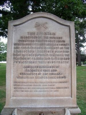 WCTU Fountain Inscription Photo, Click for full size